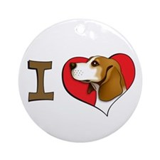 I heart beagles Ornament (Round)