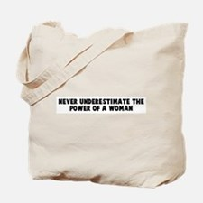 Never underestimate the power Tote Bag