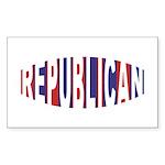 Republican Bulge Rectangle Sticker