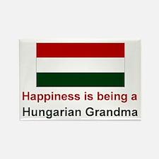 Happy Hungarian Grandma Rectangle Magnet