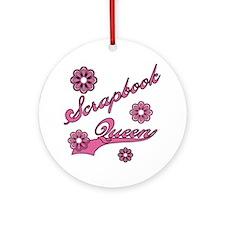 Scrapbook Queen Pink Text Keepsake (Round)