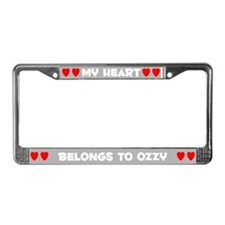 My Heart: Ozzy (#006) License Plate Frame