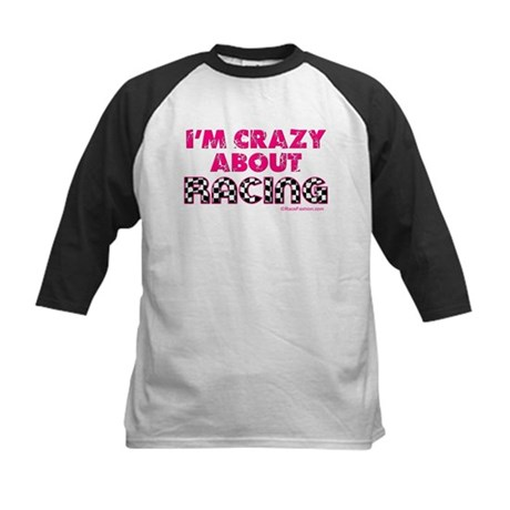 Crazy About Racing Kids Baseball Jersey