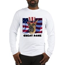 Great Dane RED WOOF & BLUE Long Sleeve T-Shirt
