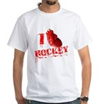 I love Hockey White T-Shirt