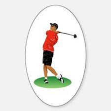 Cool Golfer Oval Decal
