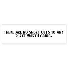 There are no short cuts to an Bumper Bumper Sticker