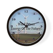 Wind Power Wall Clock