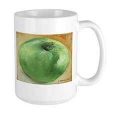 Large Mug- Green Apple, Right Handed
