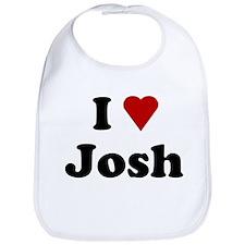 I Love Josh Bib