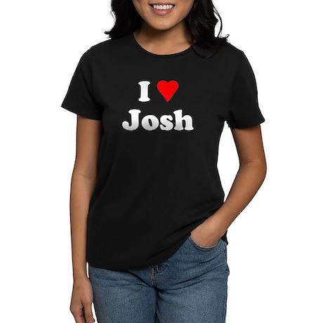 I Love Josh Women's Dark T-Shirt
