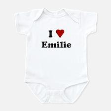 I Love Emilie Infant Bodysuit