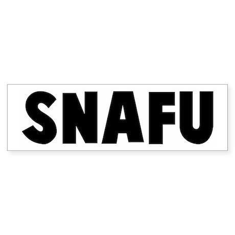 Snafu Bumper Sticker