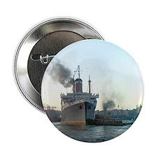 """Oceanliner S.S America, 1946 New York 2.25"""" Button"""