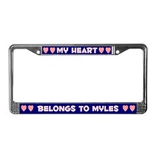 My Heart: Myles (#008) License Plate Frame