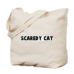 Scaredy cat Tote Bag