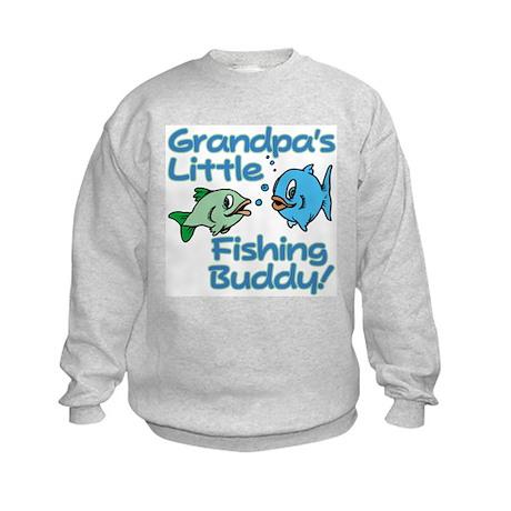 Grandpa 39 s little fishing buddy kids sweatshirt grandpa 39 s for Nd fishing buddy