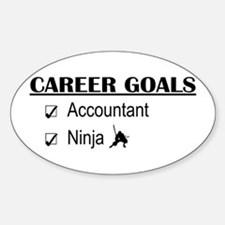 Accountant Carreer Goals Oval Decal