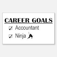 Accountant Carreer Goals Rectangle Decal