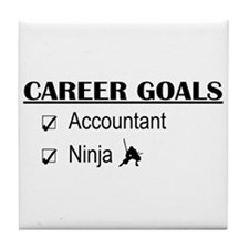 Accountant Carreer Goals Tile Coaster