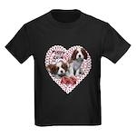 Cavalier Puppy Love Kids Dark T-Shirt