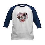 Cavalier Puppy Love Kids Baseball Jersey