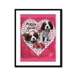 Cavalier Puppy Love Framed Panel Print