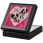 Cavalier Puppy Love Keepsake Box