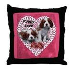 Cavalier Puppy Love Throw Pillow