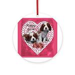 Cavalier Puppy Love Ornament (Round)