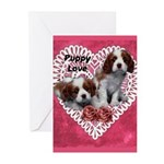 Cavalier Puppy Love Greeting Cards (Pk of 20)