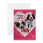 Cavalier Puppy Love Greeting Card