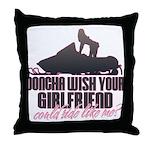 Ride like me Throw Pillow
