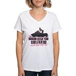 Ride like me Women's V-Neck T-Shirt