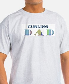 Curling Dad T-Shirt