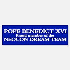 POPE BENEDICT XVI Bumper Bumper Bumper Sticker