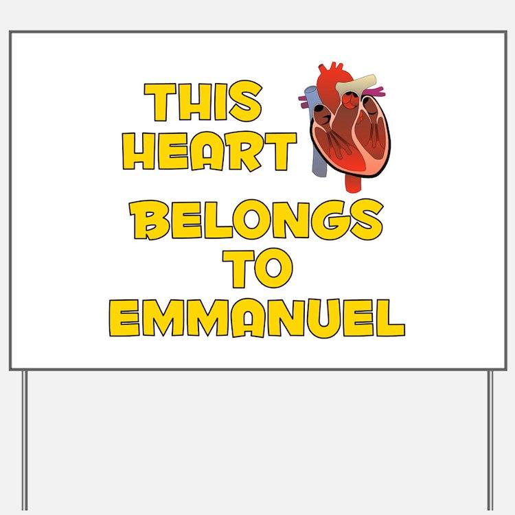 This Heart: Emmanuel (A) Yard Sign