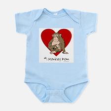 #1 Monkey Mom Infant Creeper