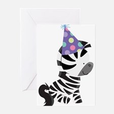 Cute Birthday Zebra Greeting Cards