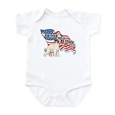 Afghan Hound United We Stand American Flag Infant