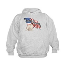 Afghan Hound United We Stand American Flag Hoodie