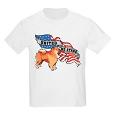 Chow Chow United We Stand American Flag T-Shirt