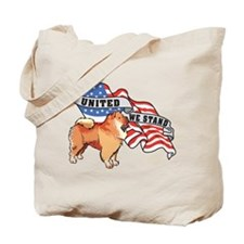 Chow Chow United We Stand American Flag Tote Bag