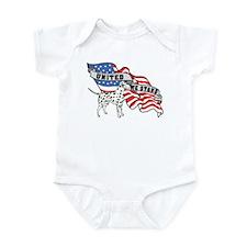 Dalmation United We Stand American Flag Infant Bod
