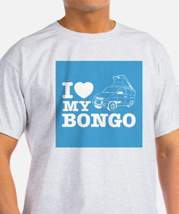I Love My Bongo - Blue T-Shirt