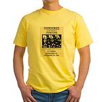 Tombstone Murder Yellow T-Shirt