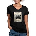 Tombstone Murder Women's V-Neck Dark T-Shirt