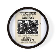 Tombstone Murder Wall Clock