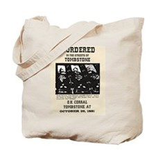 Tombstone Murder Tote Bag