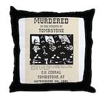 Tombstone Murder Throw Pillow